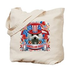 American Pride Maltese Tote Bag