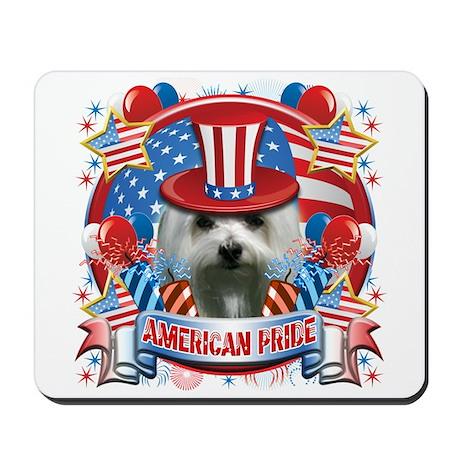 American Pride Maltese Mousepad