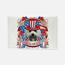 American Pride Maltese Rectangle Magnet