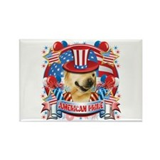 American Pride Labrador Rectangle Magnet