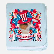 American Pride Jack Russell baby blanket