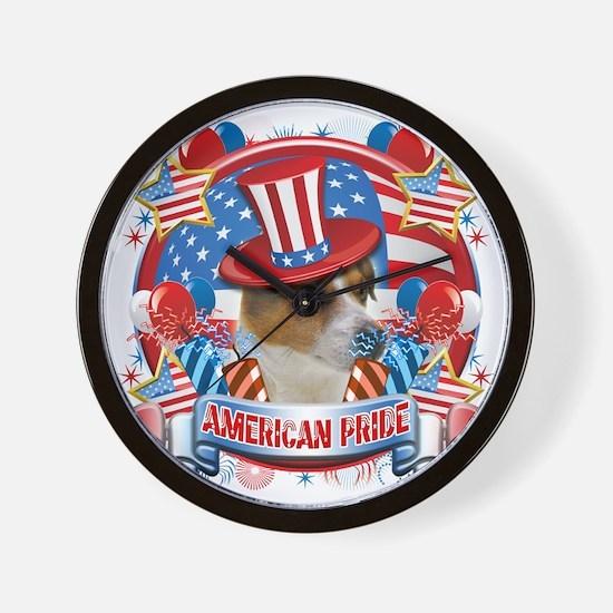 American Pride Jack Russell Wall Clock
