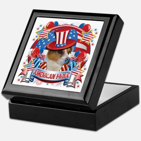 American Pride Jack Russell Keepsake Box