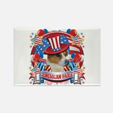 American Pride Jack Russell Rectangle Magnet