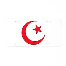 Crescent Moon Aluminum License Plate