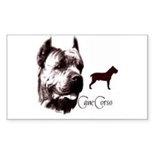 Cane Corso on Rectangle Decal