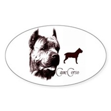 Cane Corso on Oval Decal