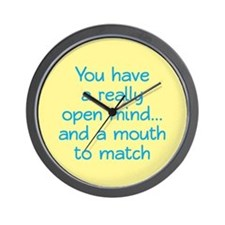 Open Mind and Mouth Wall Clock