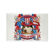 American Pride Husky Rectangle Magnet