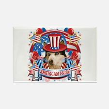American Pride Husky Rectangle Magnet