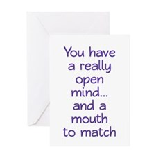 Open Mind and Mouth Greeting Card