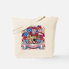 American Pride Golden Retriever Tote Bag