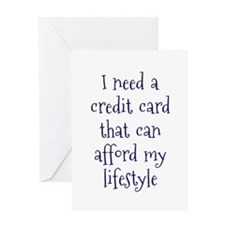 Affordable Credit Card Greeting Card