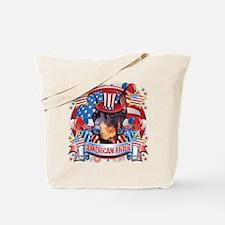 American Pride Dobeman Tote Bag