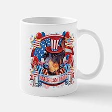 American Pride Dobeman Mug