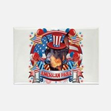 American Pride Dobeman Rectangle Magnet