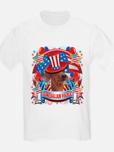 American Pride Dachshund T-Shirt