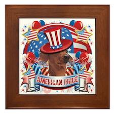 American Pride Dachshund Framed Tile