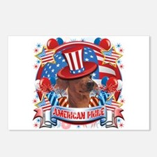 American Pride Dachshund Postcards (Package of 8)