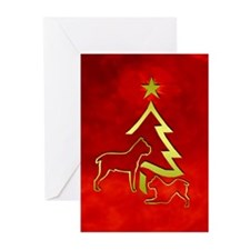 Cane Corso holiday designs Greeting Cards (Package