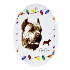 Cane Corso holiday designs Oval Ornament
