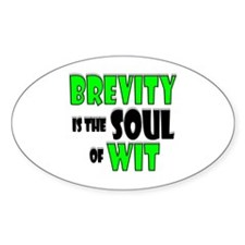 Witty Brevity Decal