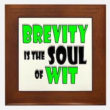 Witty Brevity Framed Tile