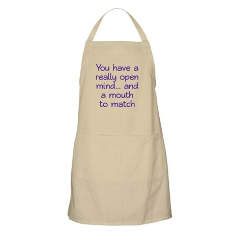 Open Mind and Mouth Apron