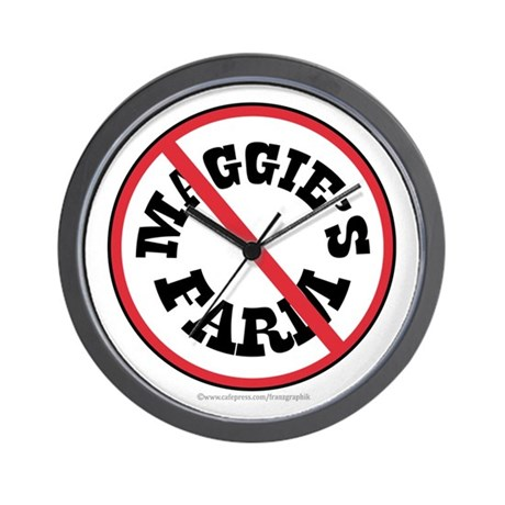 Maggie's Farm/Dylan Wall Clock