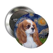 "Starry / Cavalier Pup (BL) 2.25"" Button"