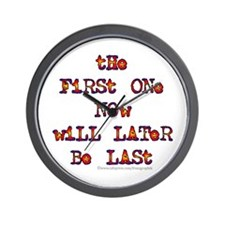 First-Last/Dylan Wall Clock