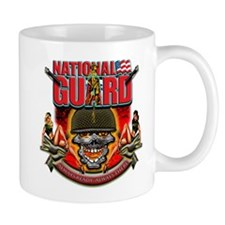 US Army National Guard Skull Mug