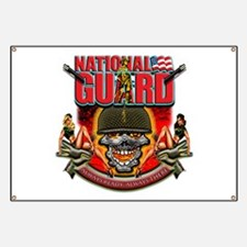 US Army National Guard Skull Banner