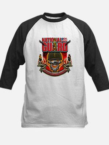 US Army National Guard Skull Kids Baseball Jersey