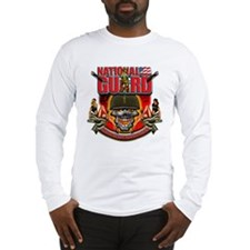 US Army National Guard Skull Long Sleeve T-Shirt