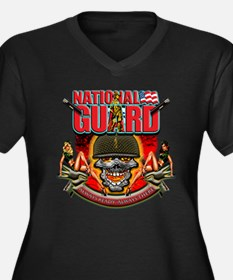 US Army National Guard Skull Women's Plus Size V-N
