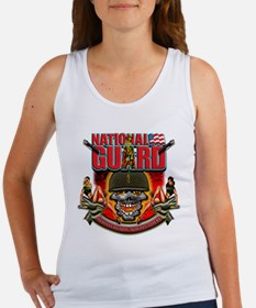 US Army National Guard Skull Women's Tank Top