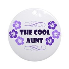 The Cool Aunt Ornament (Round)