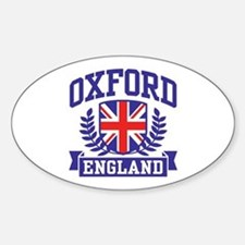 Oxford England Sticker (Oval)