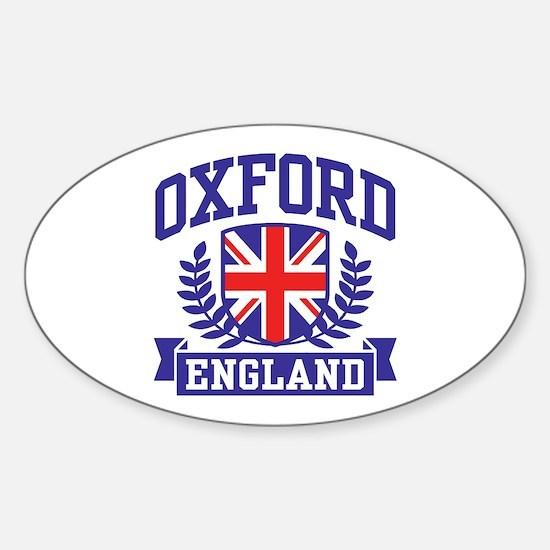 Oxford England Sticker (Oval)