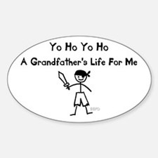 A Grandfather's Life For Me Sticker (Oval)