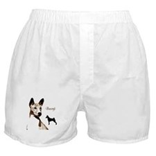 basenji art dog art on gifts Boxer Shorts