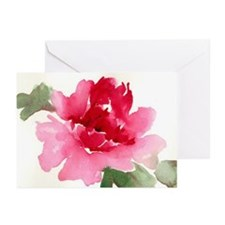 red peony Greeting Cards (Pk of 10)