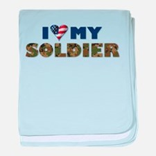I love my soldier baby blanket