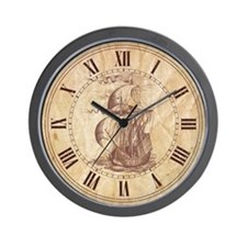 Vintage Sail ship Wall Clock