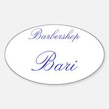 Barbershop Bari Oval Decal