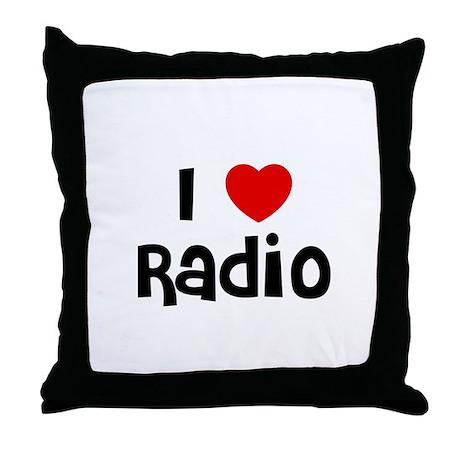 I * Radio Throw Pillow