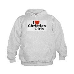 I love Christian Girls Hoodie