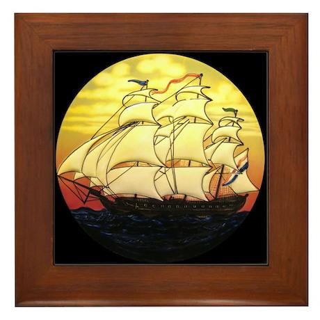 Sailing Ship Framed Tile