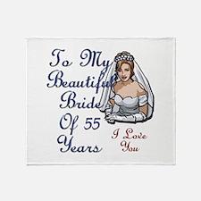 55 years anniversary Throw Blanket
